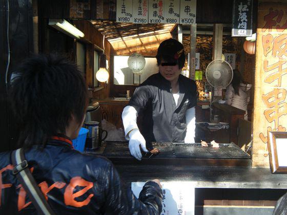 網のブログ-伊勢名物 松阪肉の串焼き