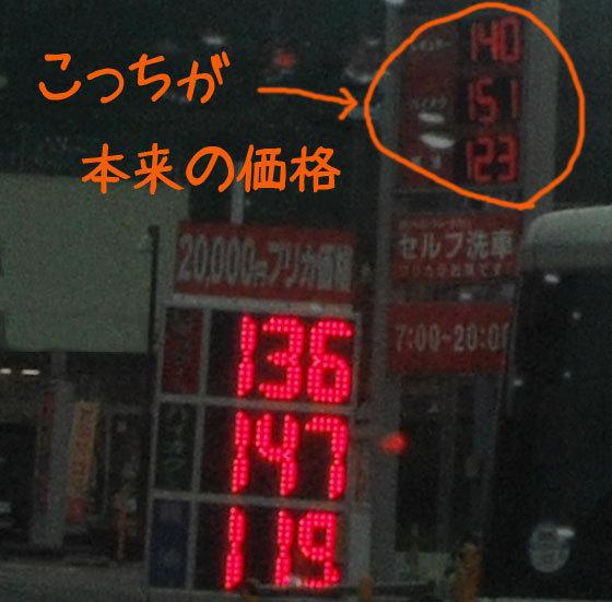 網のブログ-ガソリン価格