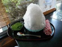 カキ氷と天ぷら