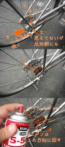 網のブログ-自転車の油さし