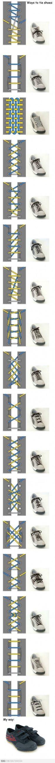 素敵な靴ヒモの結び方一覧
