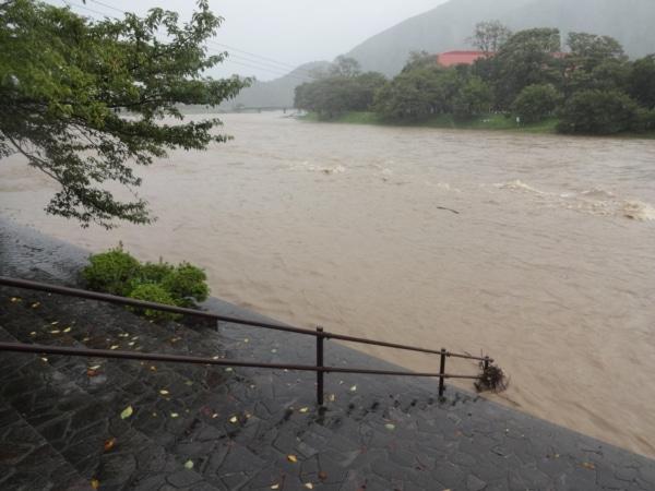 五十鈴川が氾濫