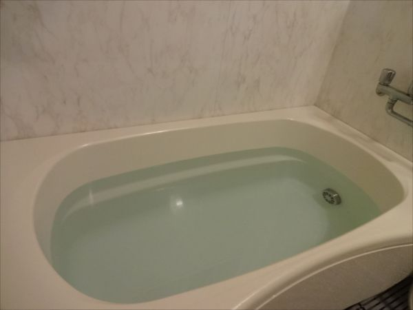 水風呂で肌サラサラ