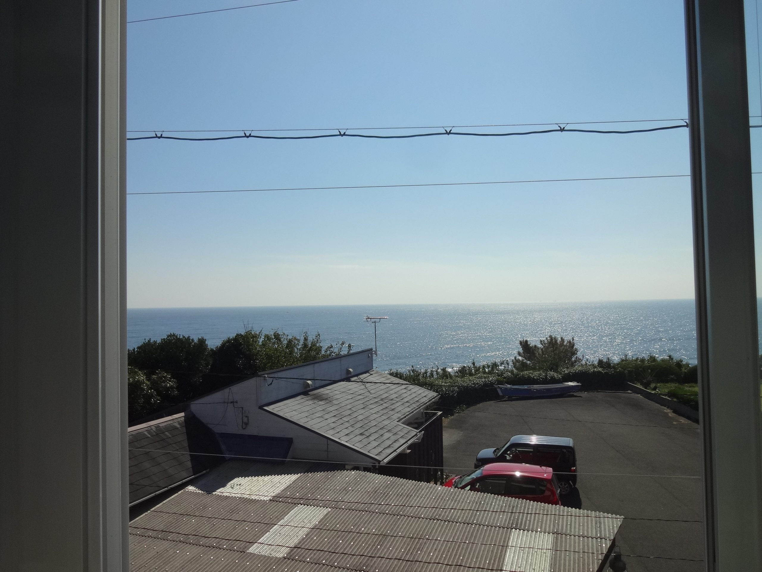 海が見える