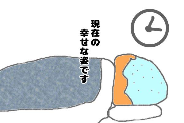 甘美な睡眠ならず